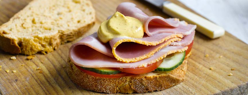Ham Sandwich With Mustard