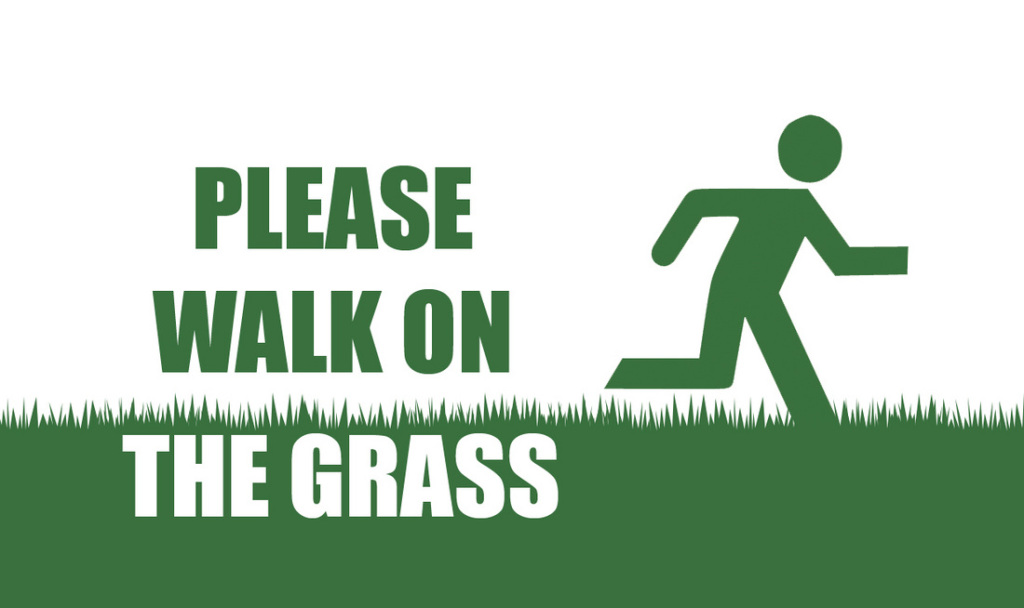 Walk On Grass